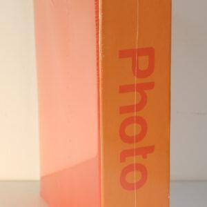 Álbum de fotos básico de color naranja