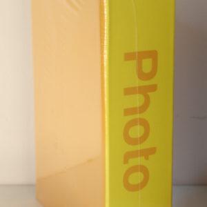 Álbum de fotos básico de color amarillo